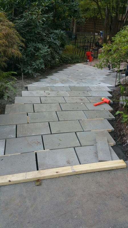 Laying a Bluestone Walkway